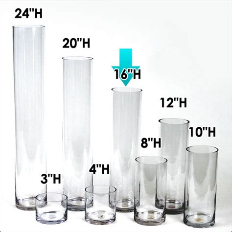 24 Inch Cylinder Vases Wholesale by 5 30 Ea 24 Pcs 4 Quot W X 16 Quot H Clear Glass Cylinder Vases