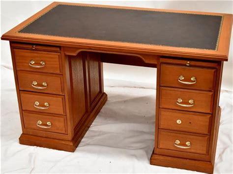 Modern Partners Desk A Modern Leather Top Oak Partners Desk