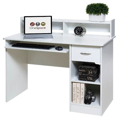 pull out computer desk onespace 50 ld0101 essential computer desk hutch pull