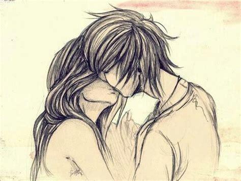 anime couples kissing sketches couple draw image 1270266 by korshun on favim com