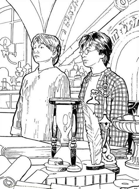 harry potter coloring book big w harry potter and weasley got detention coloring page