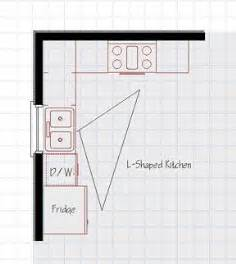 Tiny Kitchen Floor Plans by 17 Best Ideas About L Shaped Kitchen On Pinterest L