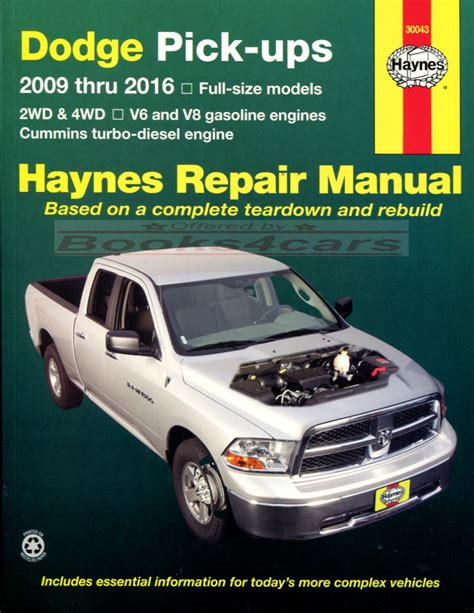 books about how cars work 1994 dodge ram wagon b350 on board diagnostic system dodge ram truck shop manual service repair book haynes 2009 2016 guide ebay