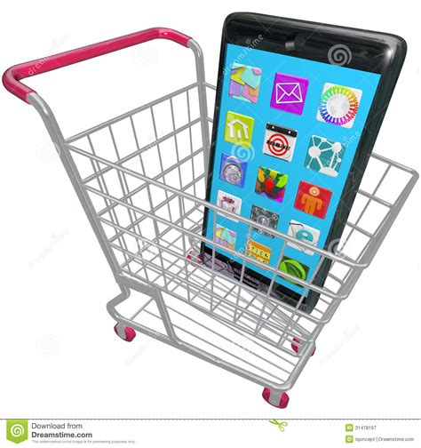 buying mobile phones smart phone cellphone apps shopping cart buying new
