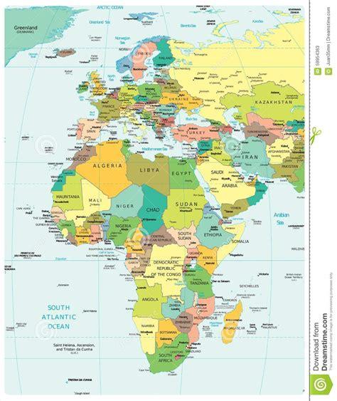 europa y africa mapa politico mapa pol 237 tico de las divisiones de la regi 243 n de europa y