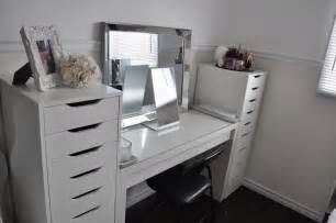 Makeup Vanity Table With Storage Makeup By Cheryl Ikea Vanity Redecoration And Makeup Storage