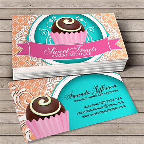 cake business cards templates raffle ticket template cake ideas and designs