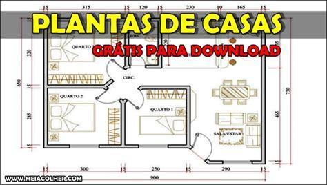 Desenhar Planta De Casas plantas de casas v 225 rios projetos em pdf para download