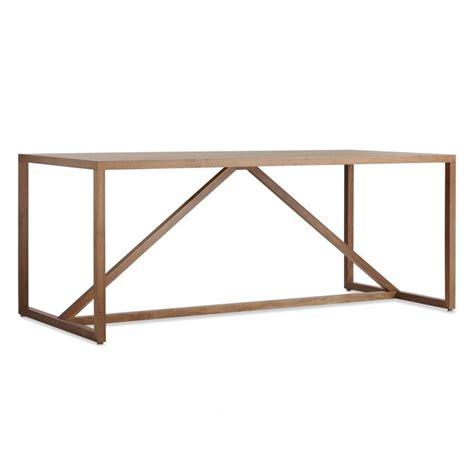 strut large wood table wood table modern dining room