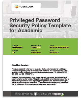 Student Data Privacy Protect Student Information From A Cyber Breach Password Policy Template