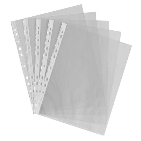 Acrylic A4 heavy duty a4 punch pockets 30 pack plastic wallets at