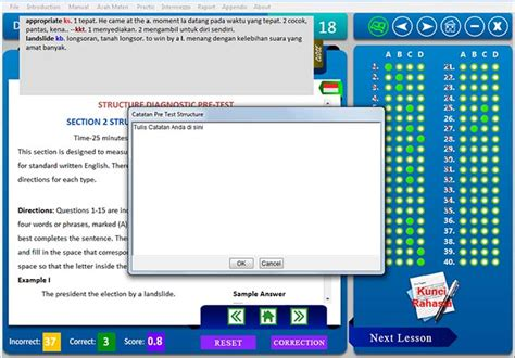Kosokata Penting Persiapan Ujian Toelf Ibt contoh soal dan kunci jawaban tes toefl rearipi