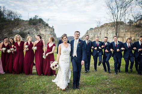 Marine Maroon Dress fall bridal outdoor wedding photos burgundy pink bridesmaid dresses and navy suits for