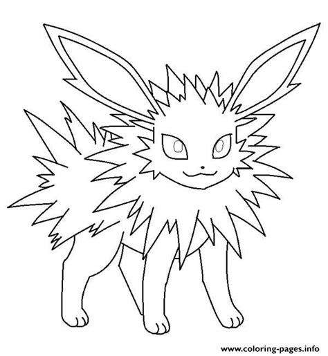 pokemon coloring pages jolteon jolteon eevee pokemon coloring pages printable