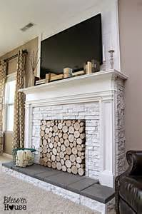 fireplace cover ideas diy faux fireplace for under 600 the big reveal bless er house