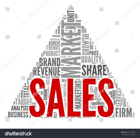 The Of The Sale sales market concept word tag cloud stock illustration