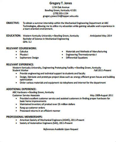 engineering objective statement 7 sle resume objective statement free sle
