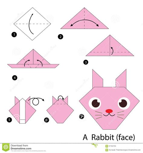 How To Make A Paper Rabbit - easy origami animals rabbit comot