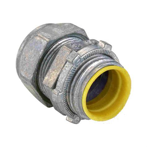 connect electrical fittings zinc die cast emt connectors compression type insulated