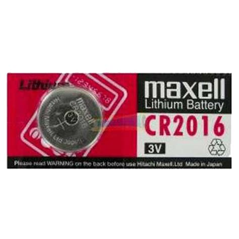 Maxell Cr2016 Button Cell Coin Battery Murah maxell 3v lithium coin cell battery cr2016 replaces dl2016 flash sale ebay