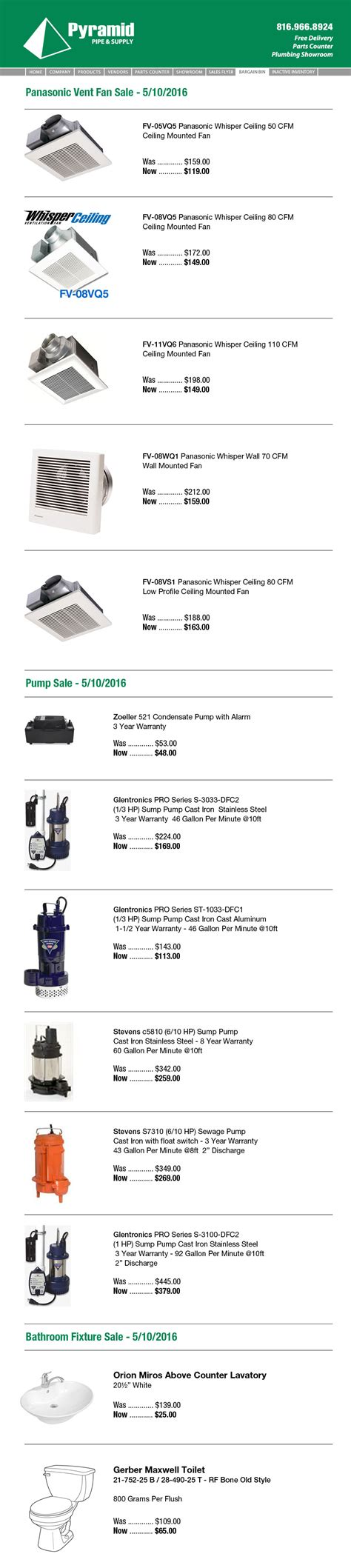 Pyramid Plumbing Supply Plumbing Supplies Excess Inventory Out Pyramid