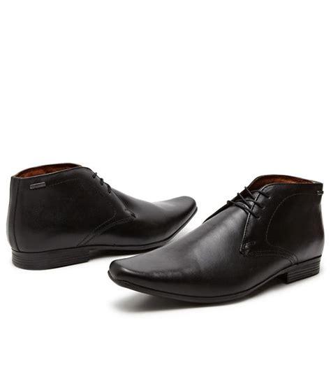 buy unique black ankle length formal shoes for