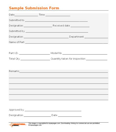 sample submission form format