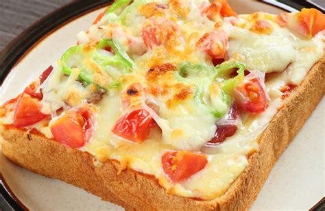 vegetarian pizza toast recipe sparkrecipes