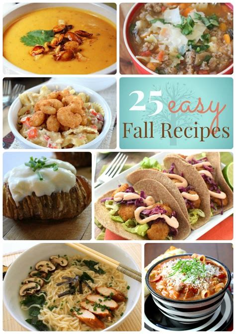 great ideas 25 easy fall dinner ideas
