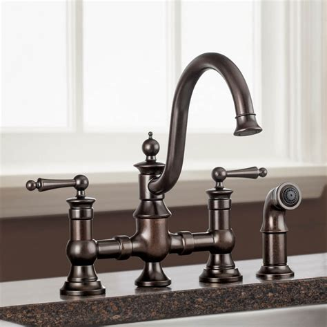 style kitchen faucets moen bridge style kitchen faucet