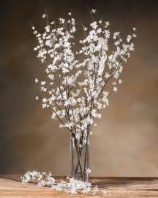 Flower Vase Lights Cherry Blossom Silk Flower Stems For Casual Decorating At