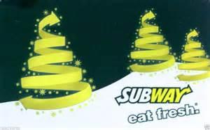Sell Subway Gift Card - subway gift card christmas tree collectible no value 2013 ebay