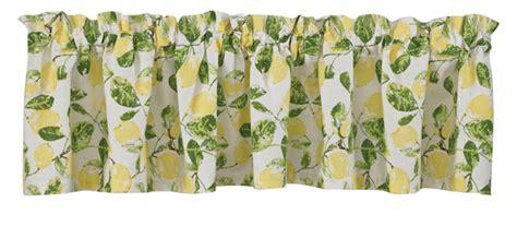 lemon valance curtains