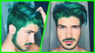 joey graceffa hair color dying my hair green