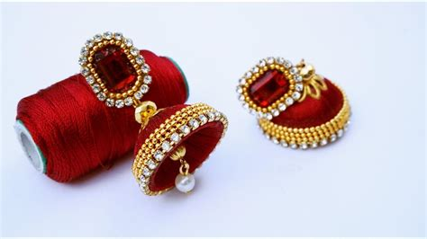to make beautiful how to make beautiful silk thread earrings diy silk