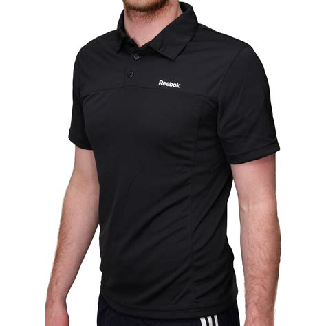 polo shirt reebok black terlaris reebok sport essentials play mens polo shirt black