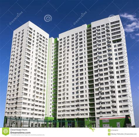 newly built block of flats apartment building royalty free stock