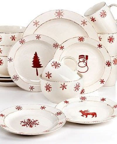 euroceramica dinnerware birchwood holiday 16 piece set