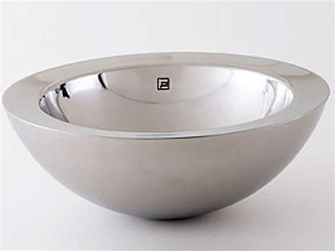 stainless steel vessel sinks bathroom decolav wall stainless steel vessel large
