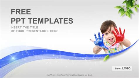 Painted Hands Education Powerpoint Templates Download Free Free Ppt Education Templates