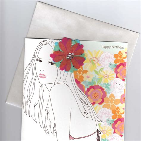 Flower Power Gift Card - flower power flirty bikini girl happy birthday card review compare prices buy online