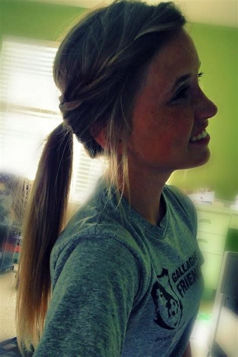 how to style hair for track and field wrapped ponytail sporty hair i m serious though my pony