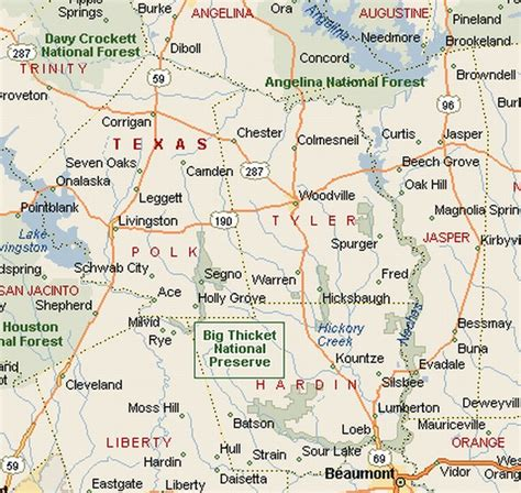 map big texas piney woods region big thicket national preserve area map