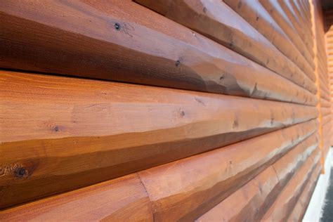Sikkens Log Cabin Stain by Prefinished Log Siding Prestained Log Cabin Siding
