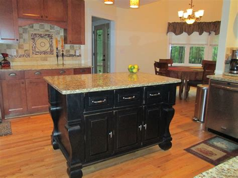 The attractive Black kitchen island completed by back