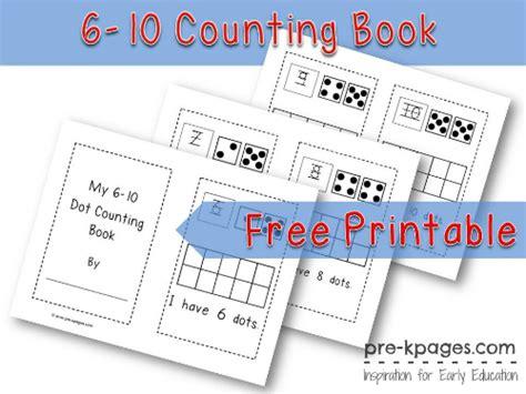printable numbers book printable dot counting book 6 10