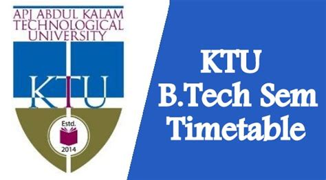 Ktu Mba Syllabus by Ktu B Tech S2 S4 S6 S8 June Timetable 2018 Now
