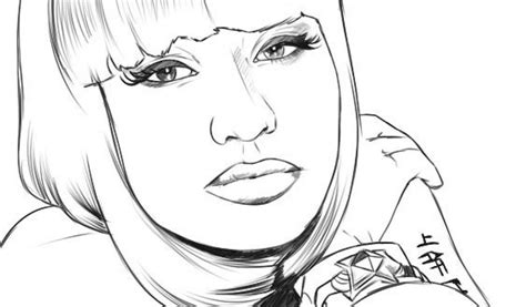 Nicki Minaj Coloring Pages Free Coloring Page Nicki Minaj Nicki Minaj Coloring Pages
