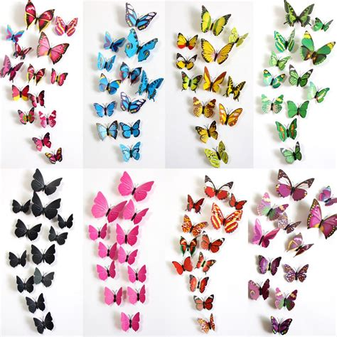 3d Butterfly Wall Sticker Stiker Dinding Kupu Kupu Yellow 12pcs jual 3d butterfly wall sticker hiasan dinding kupu kupu 3d halos creation