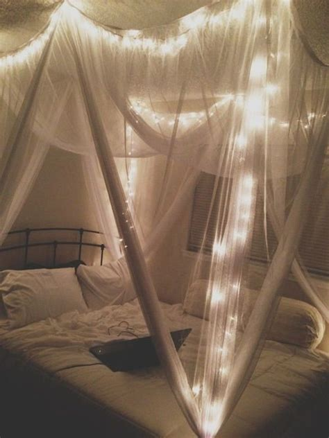 Bed Canopy With Lights Diy Pinterest Lights Bed